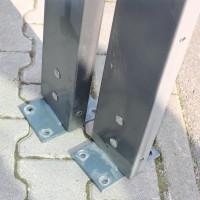 Gabionenwand Zenturo® 1250 mm anthrazit Pfosten