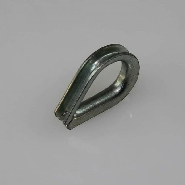 Kausche 3 mm für Stahlseil 2 mm in verzinkt