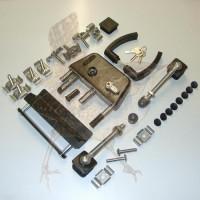 Einsteckschloss 60 mm Edelstahl/Kunststoff komplettes Tor-Set
