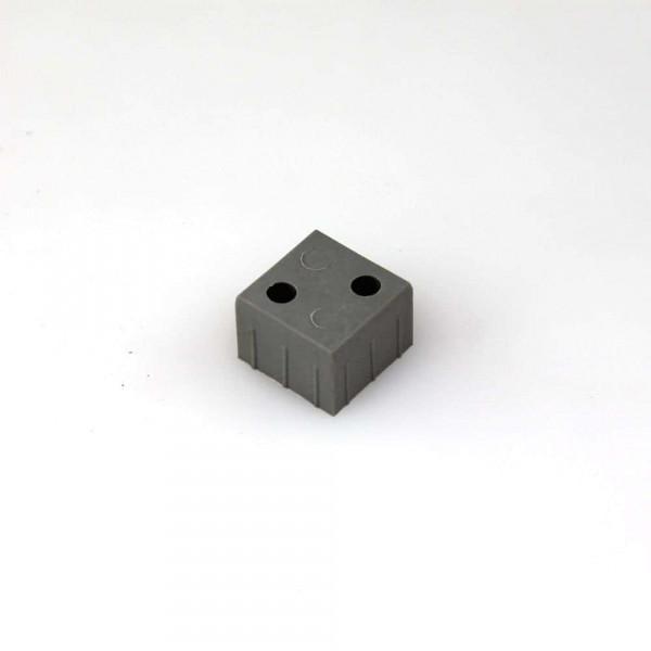 Blockverbinder für Aluminium Vierkantrohr 25 x 25 x 2 mm