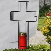 Dekoration Kreuz schwarz