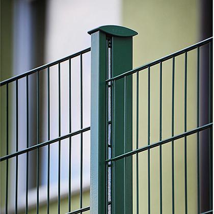 Gitterzaun Legi Abstufung, Abtreppung im Hang