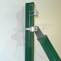 Zaunpfosten kpl. als Anfangspfosten, Zaunhöhe 2000 mm, grün