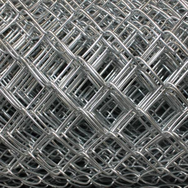 Maschendrahtzaun verzinkt Geflecht 30X2,5 mm, Anbruch auf Meter zugeschnitten