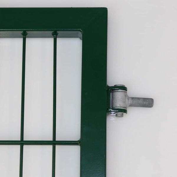 Zauntor in grün Typ EGIDIA Ansicht Torband.
