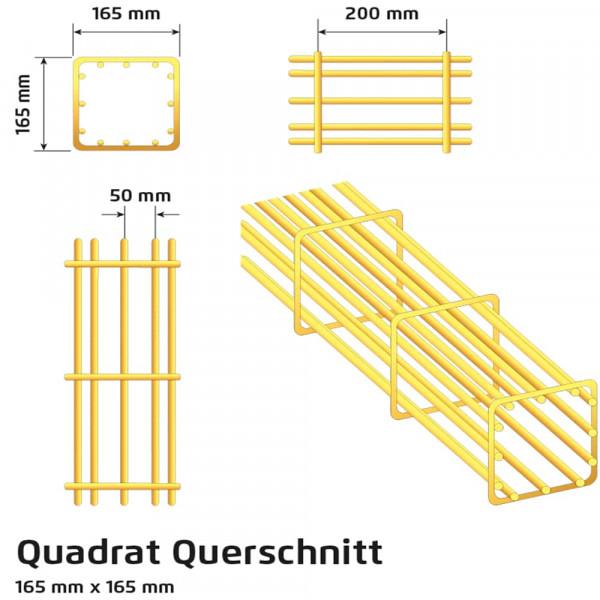 Rankbalken 2008 mm, Quadrat feuerverzinkt - Ranko®