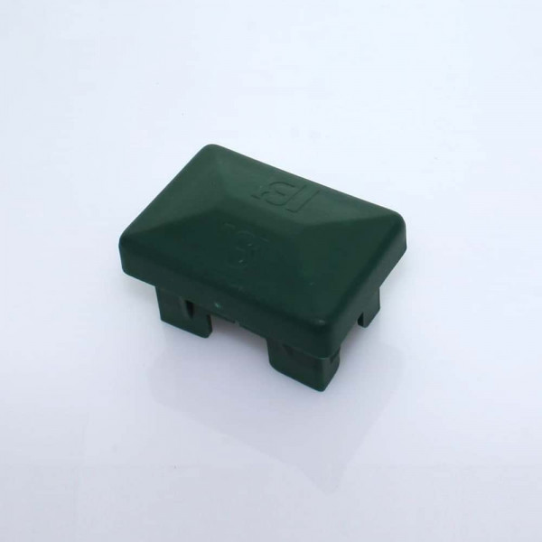 Abdeckkappe 60 x 40 mm Kunststoff hoch grün