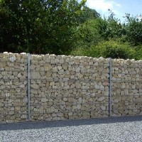Wandsystem 200 mm Stone Wall - 1400 mm Anbauelement verzinkt