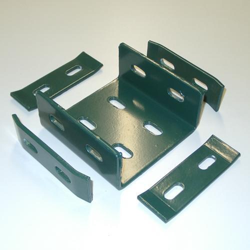 Ranko® quadratisch Koppelhalterung grün ohne Schrauben