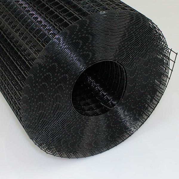 Volierendraht schwarz 16,0 x 16,0 x 1,20 x 1000 mm