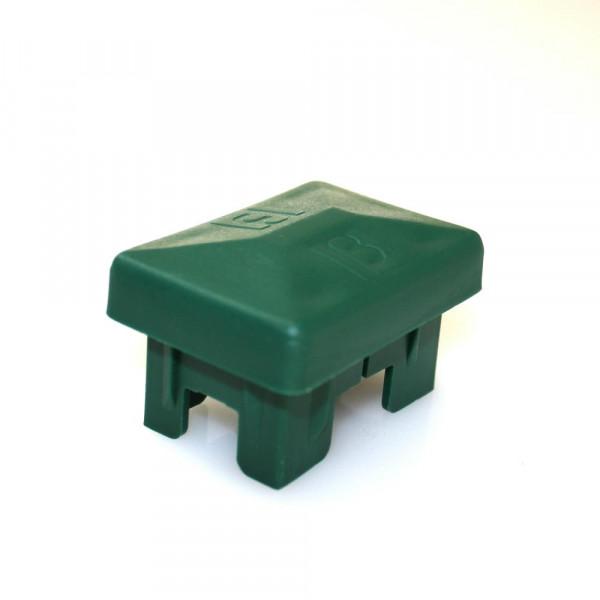 Kunststoff Einsteck Abdeckkappe grün