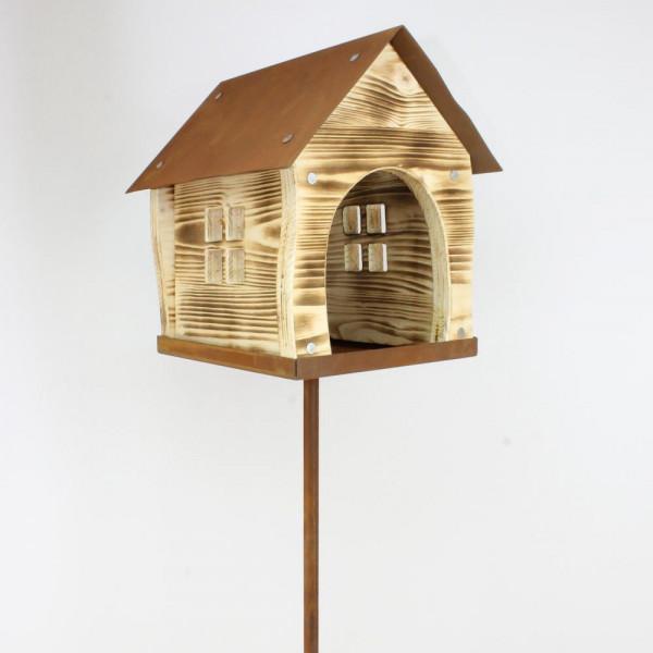 Vogelhaus für Garten auf Stab