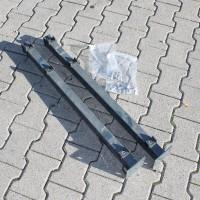 Pfosten 830 mm mit angeschweißter Bodenplatte SET