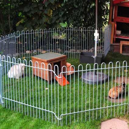 740 mm Zierzaun als Teichschutz oder Tiergehege