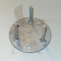 Zubehör Boden- + Wandbefestigungsplatte 70 mm