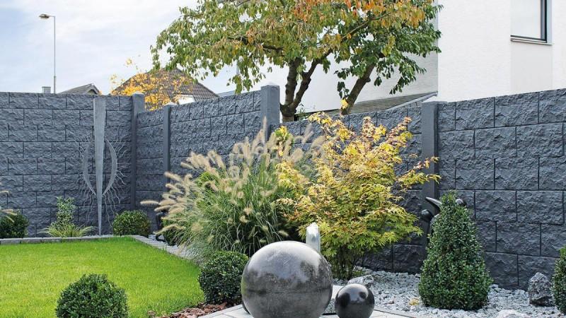 betonzaun standard s sichtschutz becker 39 s betonzaun. Black Bedroom Furniture Sets. Home Design Ideas