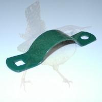 Schelle Ø 060 mm grün Halbschelle