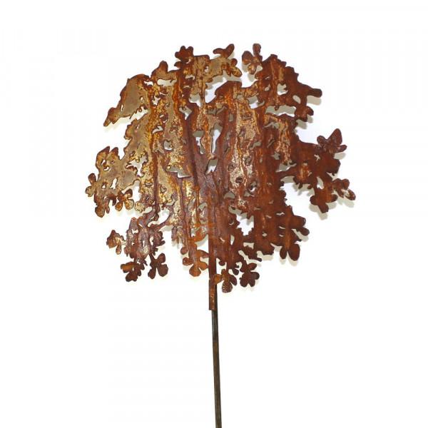 gartenstecker dekoration Metall Rost Deko Blume