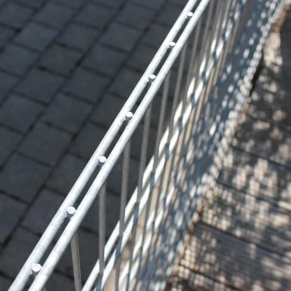 Doppelstabmattenzaun mit Stahlbügel