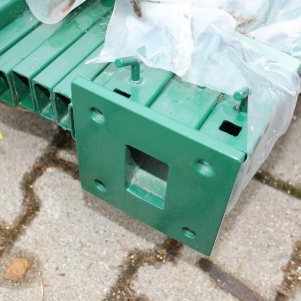 Pfosten Legi RP-fit 1430 mm grün 6er Set Bodenplatte