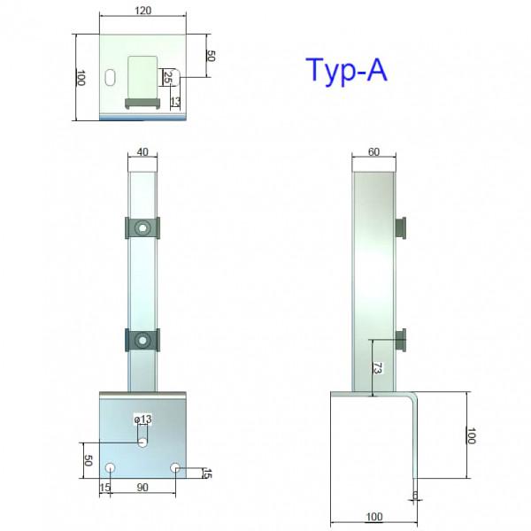 Lochdurchmesser Winkelplatte Typ A