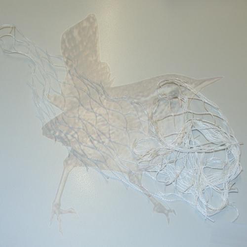 Abwehrnetz Tauben weiss w