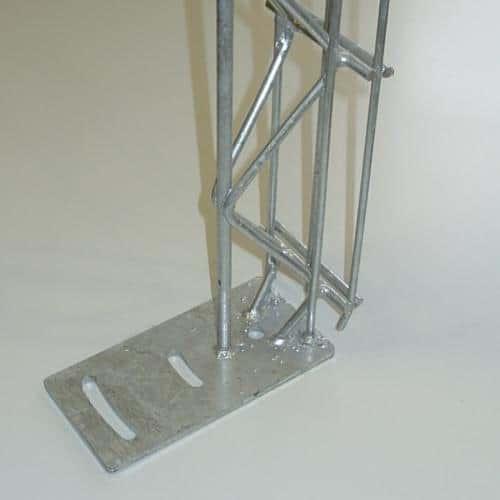 Säule für Steinzaun 100 mm mit Bodenplatte zum aufdübeln