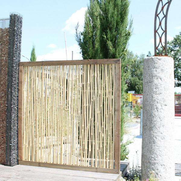 zaun aus bambus bauen