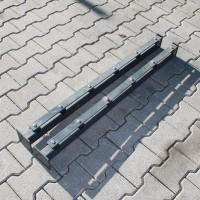 Pfosten 1030 mm mit angeschweißter Bodenplatte SET