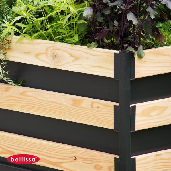 Hochbeet bepflanzen aus Holz im Bausatz