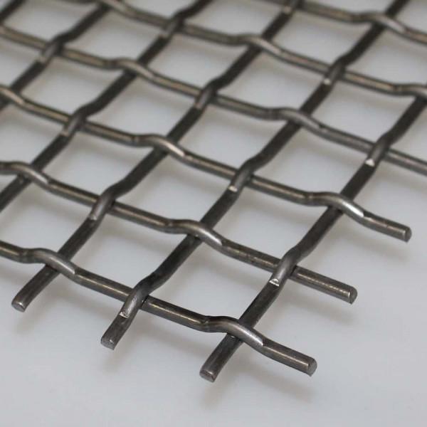 Stanzgitter aus blankem Stahl