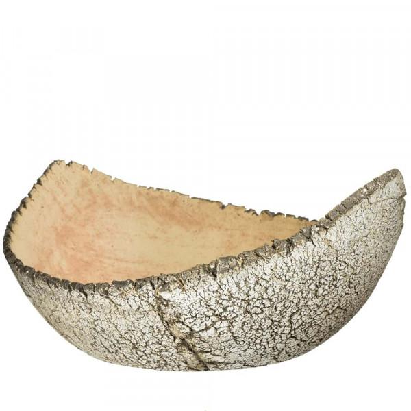 Pflanzschale aus Keramik Durchmesser 440 mm flach