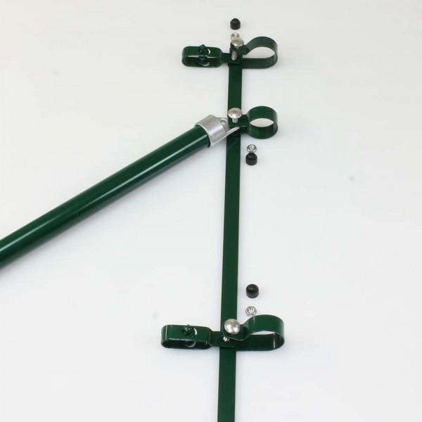 Zaunanschluß 1500 mm für Pfosten Ø 60mm, Strebe Ø 34mm