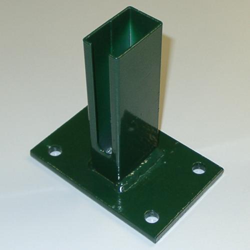 Bodenplatte mit Rohrstutzen für Profilrohrpfahl