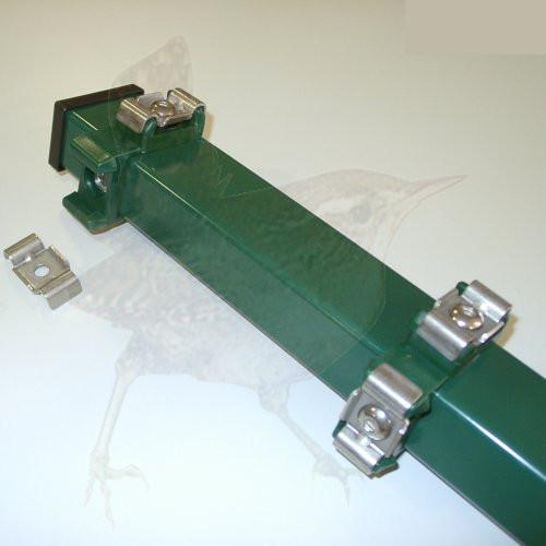 Zaunpfosten für Ecke 163 cm, Rechteckprofil 60x40 mm grün