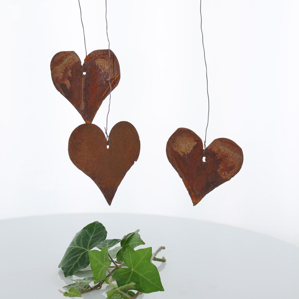 Rost Herzen Zum H Ngen 70 Mm Dekoelemente Aus Rost