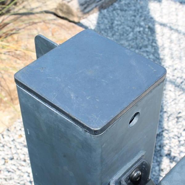 Kappe für Torpfosten aus Stahl verzinkt