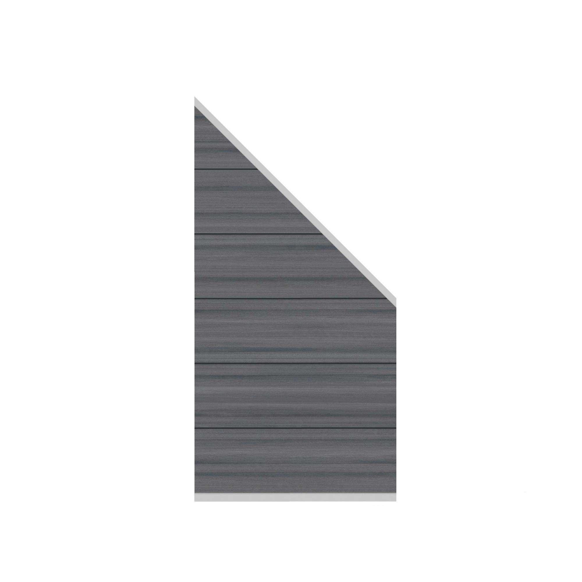 Sichtschutz Wpc Platinum Xl 0890 X 1830 Mm Grau Schrag Wpc