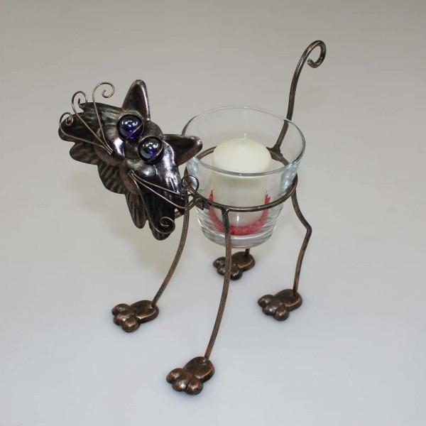 Windlicht Modell Katze