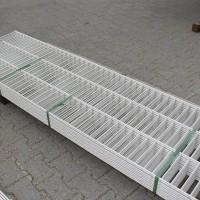 Doppelstabmatten 600 mm weiss 10er Pack