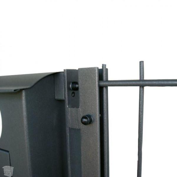 briefkasten am zaun montieren