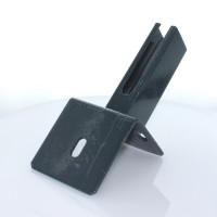 Bodenplatte für Rechteckrohr 60x40mm, auf L-Steine, anthrazit +S