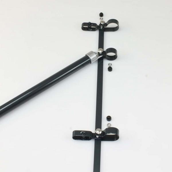 Zaunanschluß 1750 mm für Pfosten Ø 60mm, Strebe Ø 34mm
