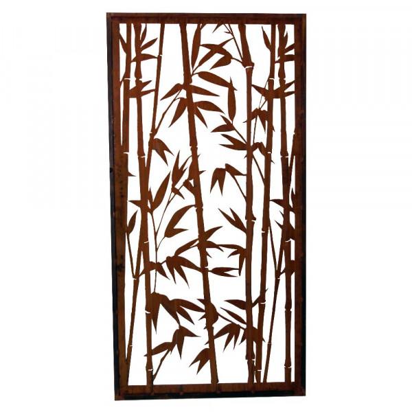 Rost Paravent Bambus offen 1000 x 2000 mm