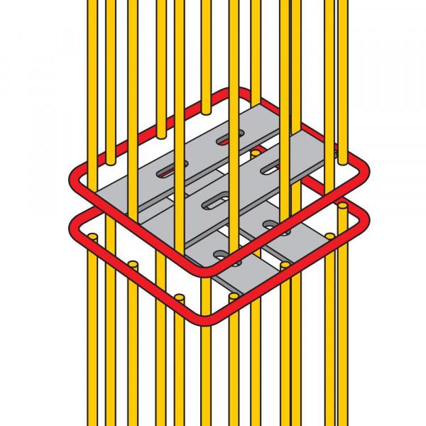 Ranko® Ranksäule quadratisch - Stirnstoßverbindung verzinkt