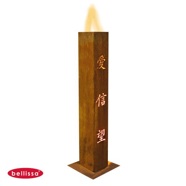 Feuersaeule chinesische Zeichen 150x150x1000