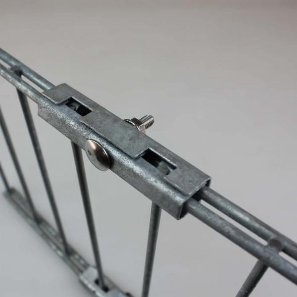 Doppelstabmattenzaun U-Verbinder Mattenverbinder für Doppelstabmattenzaun