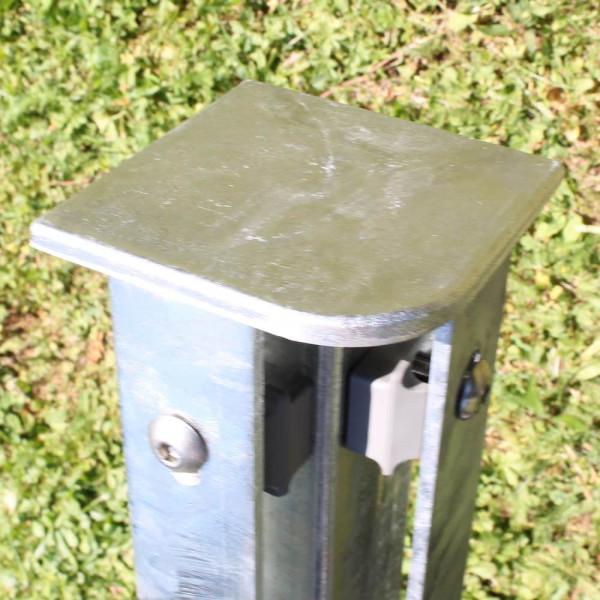 Zaunpfosten für Ecke 1 m, Rechteckprofil 60x60 mm verinkt