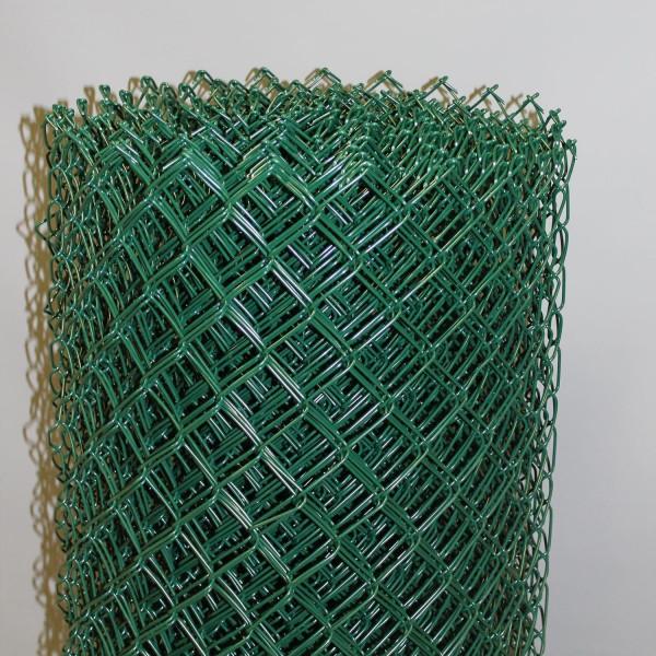 Maschendrahtzaun grün Geflecht 50x3,1 mm