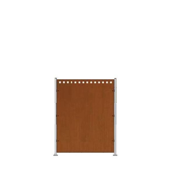 Sichtschutz quadro Corten Stahl 0950